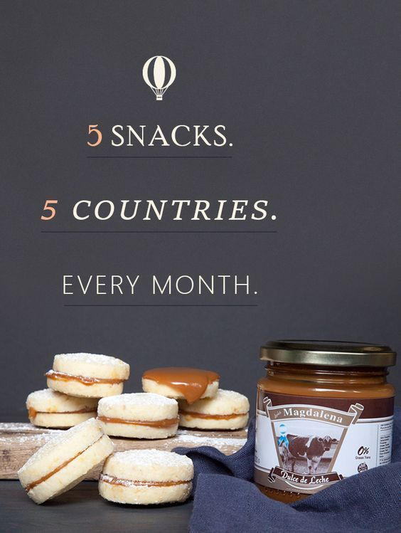 Receive 5 different snacks from 5 different countries every month. Take $10 off your first order!