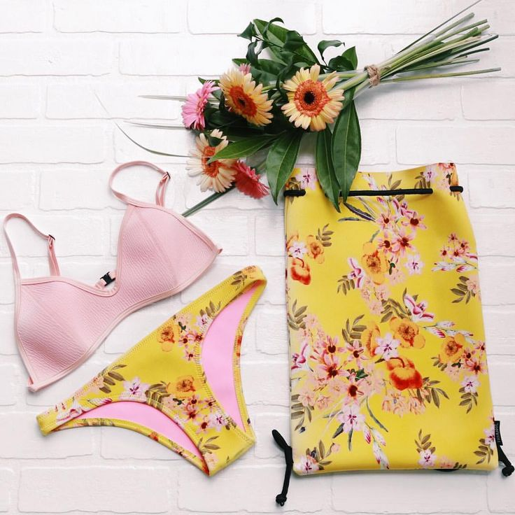 The Estella Bikini Textured Pink + Yellow Floral Choose Normal or Cheeky Bum @styled_by_seven featuring 'Blush'