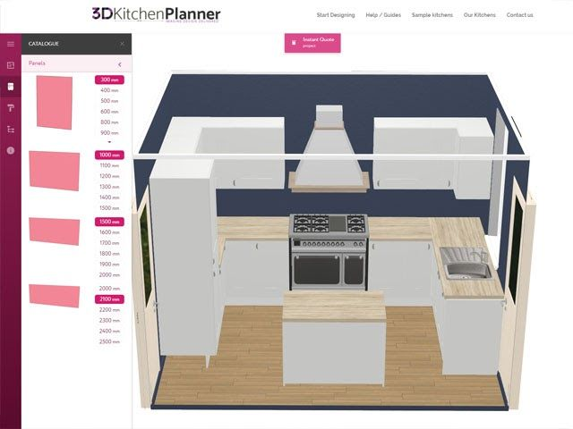 3d Kitchen Planner Design A Kitchen Online Free And Easy The Five