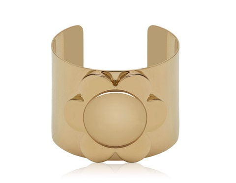 Mulberry - Large Flower Cuff in Soft Gold Metal  #winsupergawithritaora