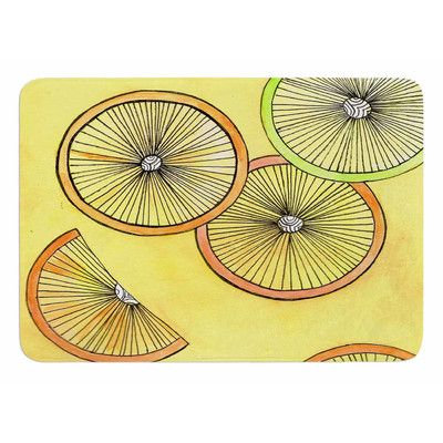 East Urban Home Lemons And Limes by Rosie Brown Bath Mat