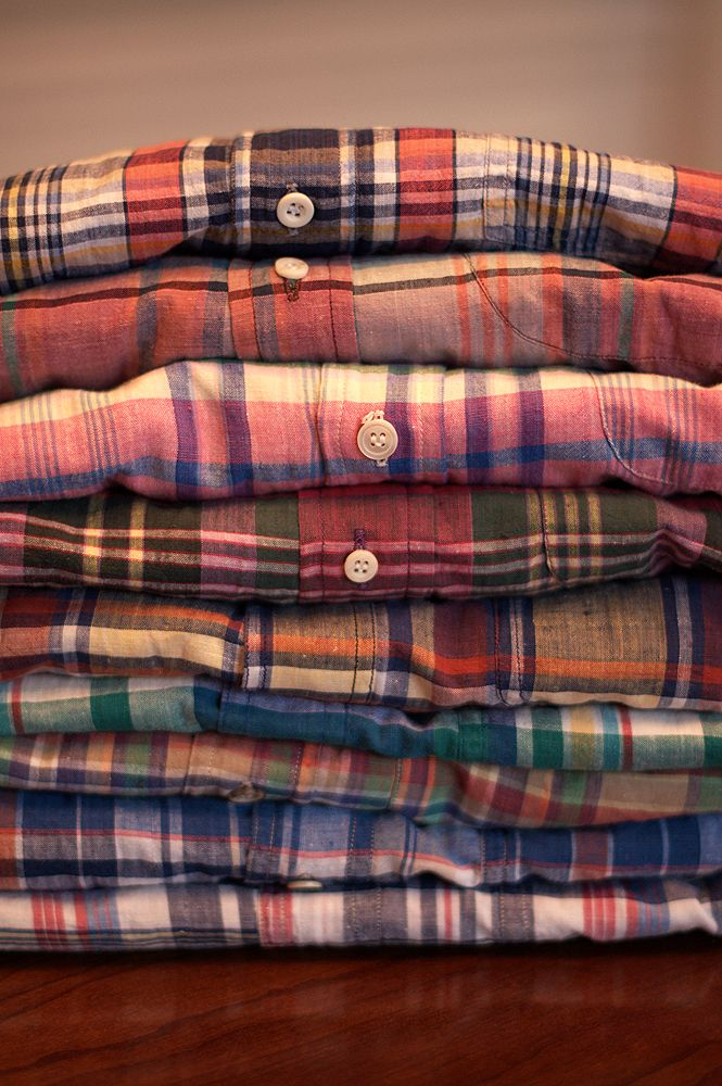 Madras - Wore a lot of this in high school - liked the kind that bled colors