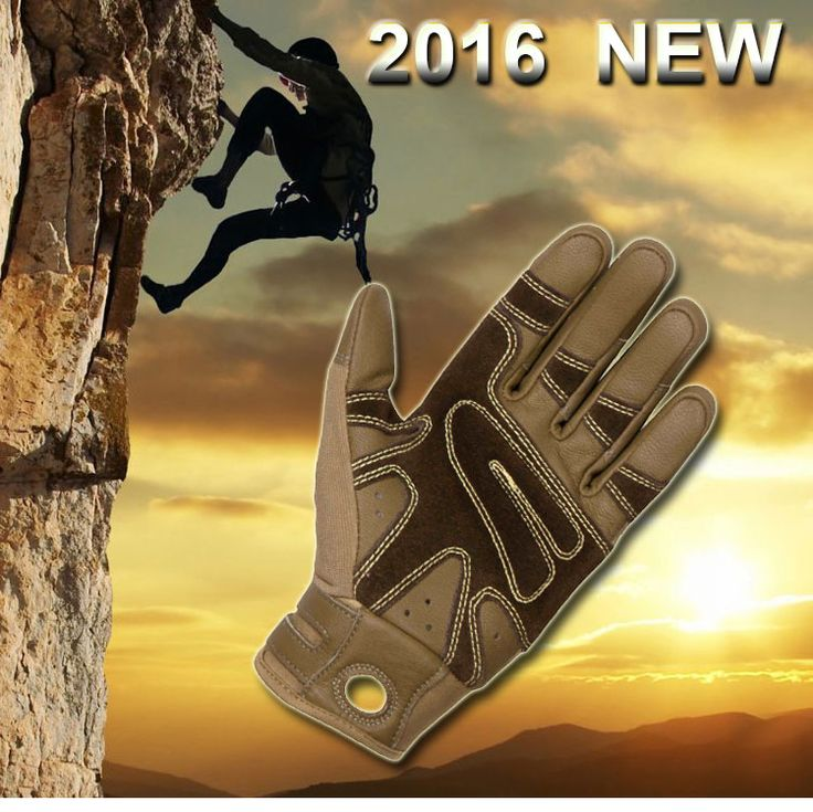 Abrasive resistant, Anti-slip Rock climbing gloves