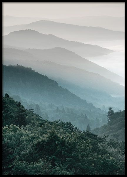 Forest Mountain, poster in der Gruppe Poster / Gr…