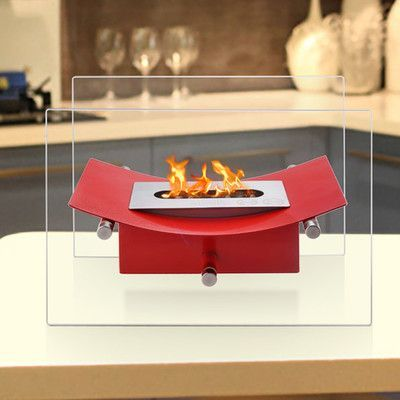 Ignis Verona Ventless Bio-Ethanol Tabletop Fireplace Finish: Red