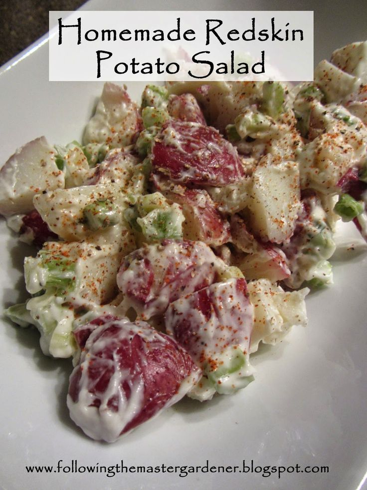 Following the Master Gardener: Homemade Redskin Potato Salad