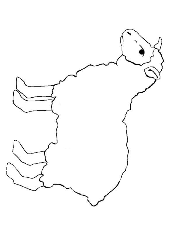 lamb template   http://www.FreeKidCrafts.com