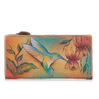 Anuschka Flying Jewels Leather Wallet