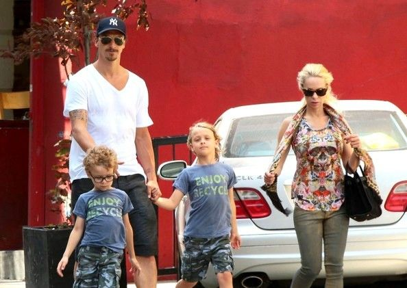 Swedish Striker Zlatan Ibrahimovic and his family: wife and kids