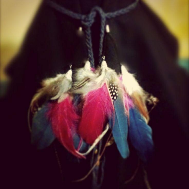 'Denim Heaven' Boho / Bohemian Headband  www.featherfunaustralia.com