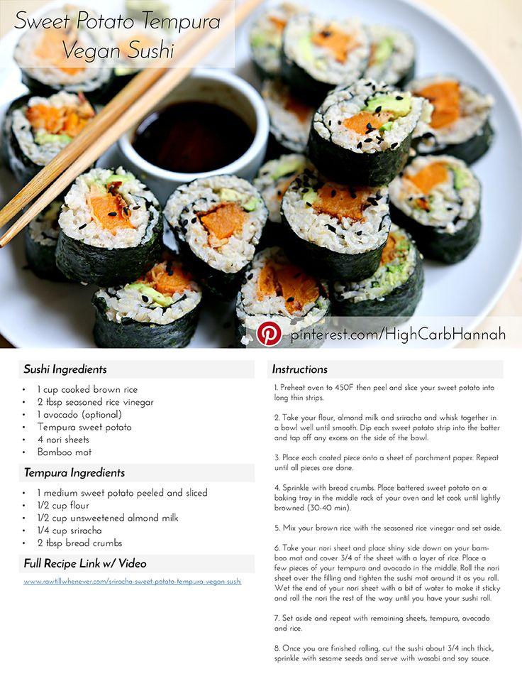 Sweet Potato Tempura Vegan Sushi