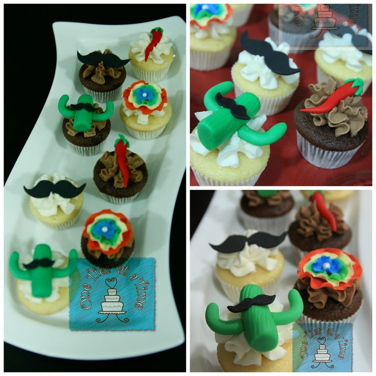 Fiesta themed cupcakes