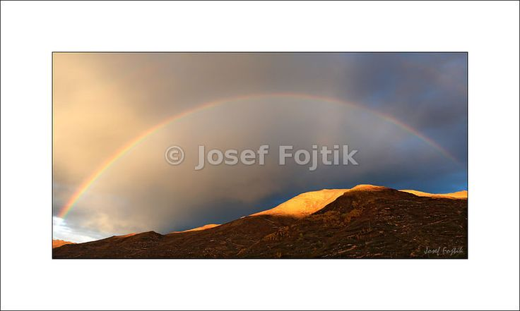 Fine Art Photography Print on a high-end photo paper - Rainbow ower mountains in Songpan County, Sichuan, China