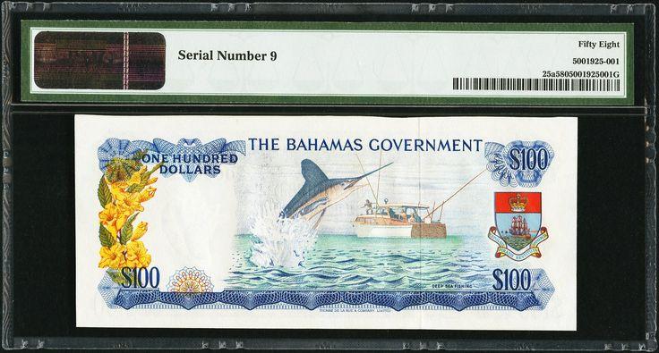 Bahamas Government $100 1965 - 2