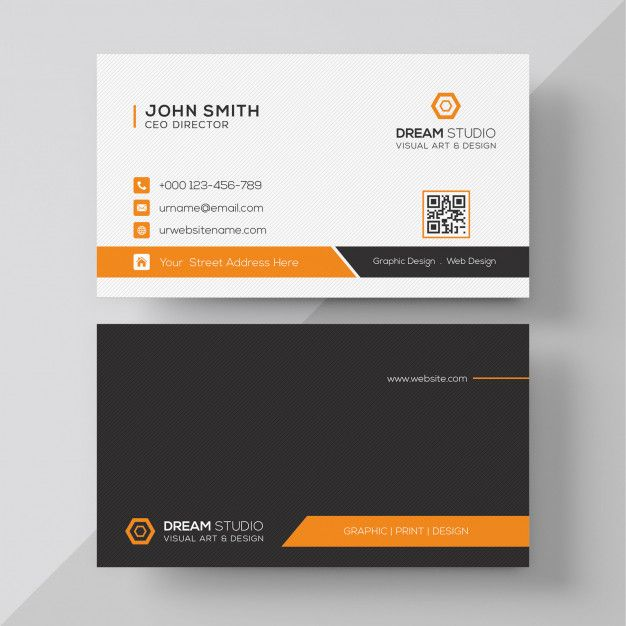 Orange Elegant Corporate Card Business Card Psd Business Cards Creative Free Business Card Templates