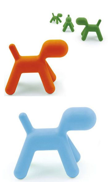 Eero Aarnio: Puppy Abstract Dog Modern Child Chair / Sculpture - Small | NOVA68 Modern Design