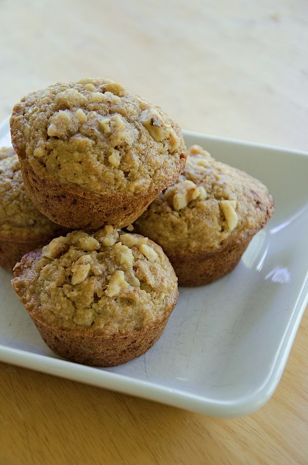 Acorn Squash Muffins w/Sweet Walnut Topping {Recipe}...vegan option included