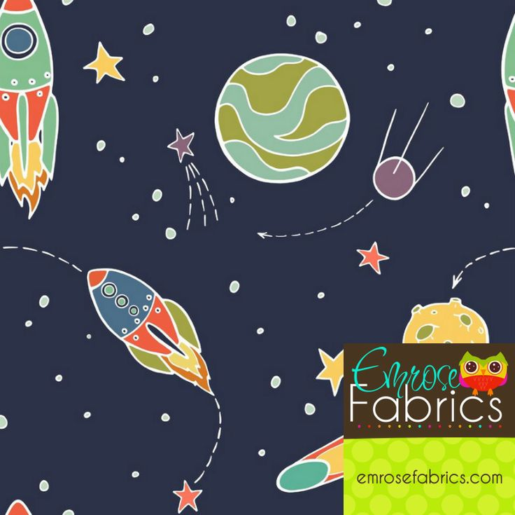 38 best space images on pinterest vector illustrations for Outer space fabric uk