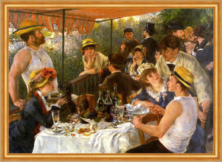 Maler Renoir Frühstück der Ruderer Leinen im Rahmen 1 - Billerantik