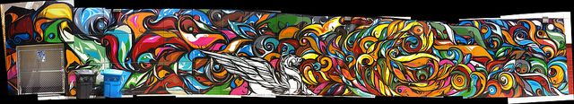 Reyes Walgreens mural on 23rd at Mission iPhone 4 autostitch panorama   Flickr – Compartilhamento de fotos!