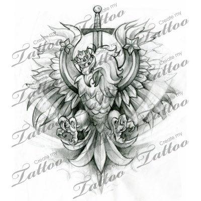Polish crest/eagle custom tattoo | eagle 3 #28801 | CreateMyTattoo.com
