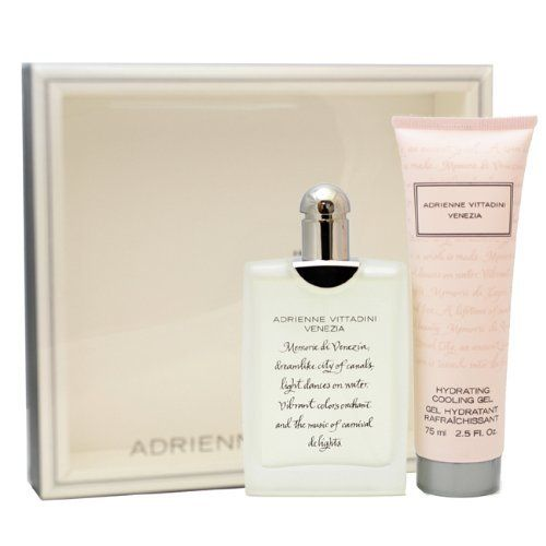 Adrienne Vittadini Venezia Gift Set for Women (Eau De Parfum Spray, Cooling Gel) by Adrienne Vittadini. $60.99. Packaging for this product may vary from that shown in the image above. We offer many great sales and discounts making this fragrance cheaper than at department stores.. Gift Set ( Eau De Parfum Spray 1.7 Oz / 50 Ml + Hydrating Cooling Gel 2.5 Oz / 75 Ml ) for Women. Venezia Perfume for Women Gift Set ( Eau De Parfum Spray 1.7 Oz / 50 Ml + Hydrating Cooling Gel ...