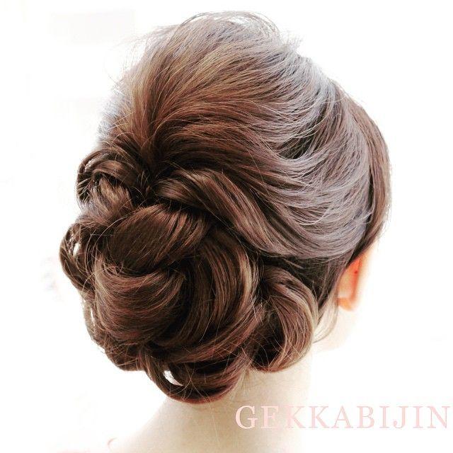 いいね!98件、コメント3件 ― hairset kimono rental dressingさん(@gekkabijin_roppongi)のInstagramアカウント: 「最近のヒットスタイル☆着物でもいけるね#2way #ヘアセット #ヘアアレンジ #ヘアセットサロン #六本木 #アップ #結婚式 #二次会 #編み込み #GEKKABIJIN #hairset…」