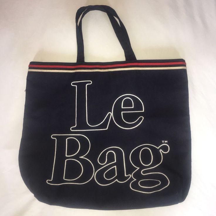 Le Bag Vintage Blue Canvas Large Font Holdall Tote Purse Shopper Bag #Canvas #TravelTote