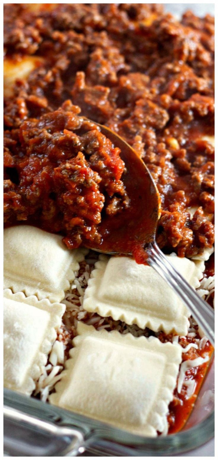 Lazy Lasagna: Baked Ravioli Casserole ~ It tastes great and is so quick to make …