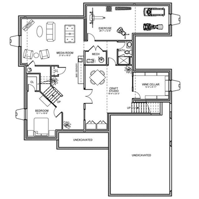 3 Pillar Homes Basement Floor Plan 2012 Bia Parade Of
