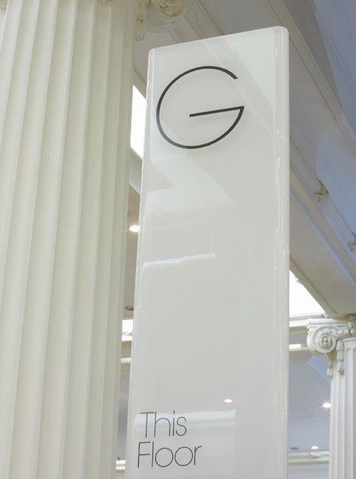 Oxford Street store wayfinding & signage | Cartlidge Levene