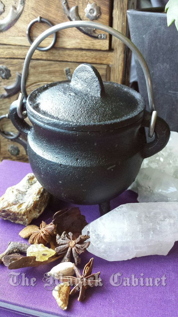 Witch's Cauldron for your Altar, Cast Iron Cauldron, Smudge Pot, Incense Burner, Wiccan Altar, Pagan, Witch, Ritual Tools, Spiritual Supply