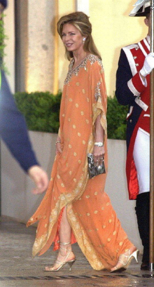 Queen Noor Of Jordan Attends A Gala Dinner At The El Pardo Royal Palace In Madrid