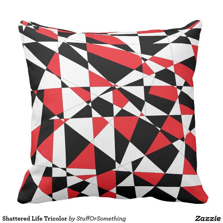 Shattered Life Tricolor Pillow