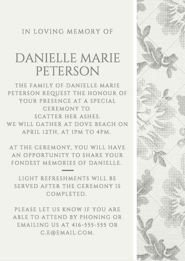 29 best Funeral Reception Invitations images on Pinterest - receptionist resume templates