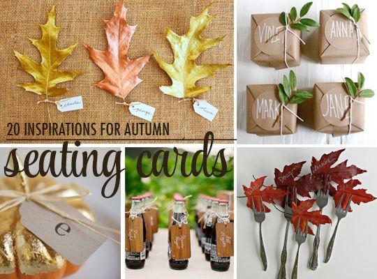 Thanksgiving seating card ideas