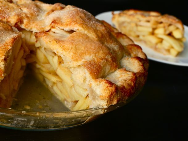 Apple Pie: the Art & Science. Includes links to recipes for Perfect Pie Crust and Perfect Apple Pie Filling. If you're just looking for the pie recipe... http://www.seriouseats.com/recipes/2011/10/perfect-apple-pie-recipe-double-crusted-thanksgiving-dessert.html
