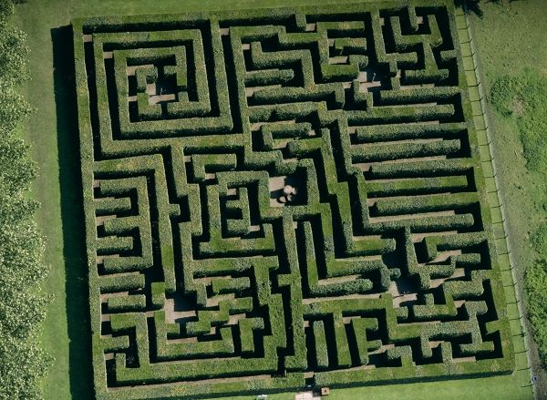 Traquair Maze, in Scozia