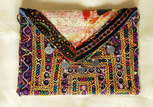 Vintage Kutch Embroidery Bag with Kantha Work (Design 12)