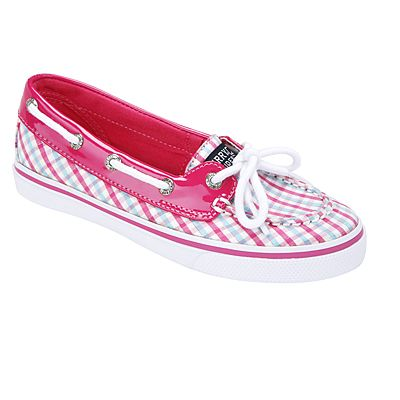 Girl's Sperry boat shoes in bright pink are classic, fun and comfortable! BISCAYNE-GPLD by SPERRY