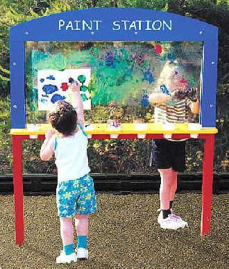 special+needs+playground+equipment | Special needs playground equipment, paint station