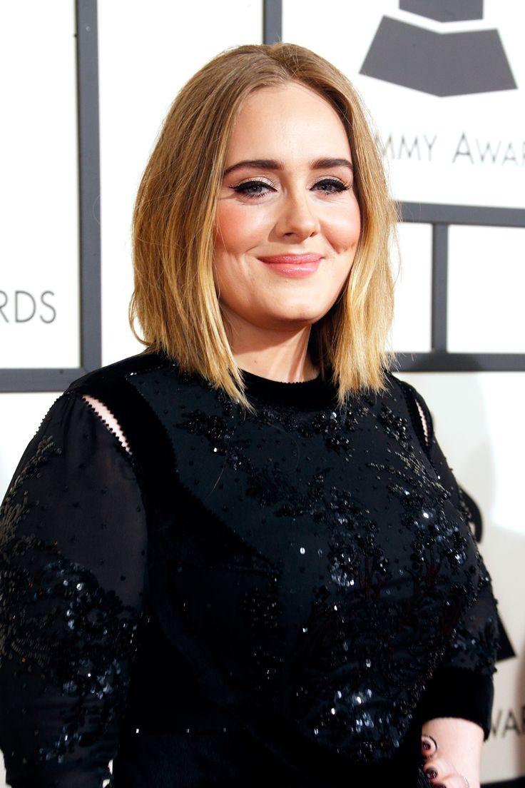 Adele's tousled blonde waves #grammys2016