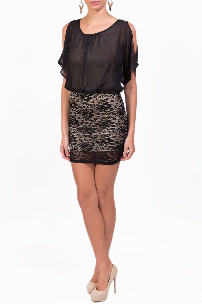 Fabuloso vestido kami de encaje en color negro que puedes - Colores para combinar ...