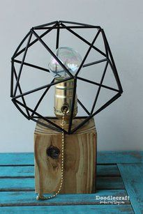 wood pallet lamp with himmeli geometric lamps shade awesome amazing easy diy tutorial (7).JPG