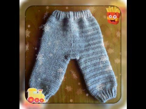 Как связать штанишки крючком детские на 6-12 месяцев для новорожденного Описание для начинающих How to crochet for beginners baby pants