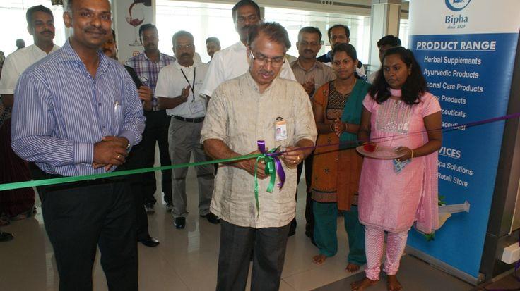 Bipha Ayurveda 1st Shop  Inaguration. Cochin International Airport