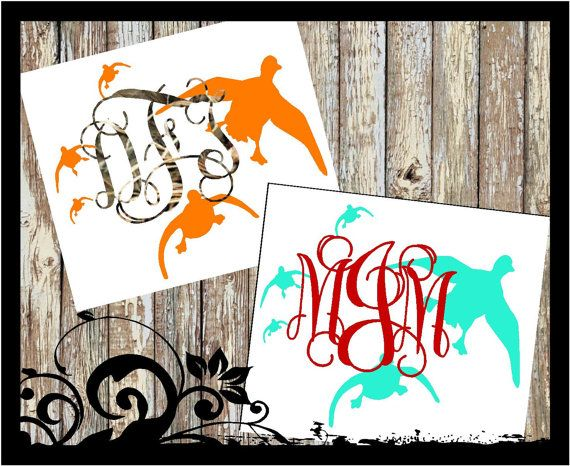 Personalized shoot em ducks Monogram Vine by BubbaAndDoodle2