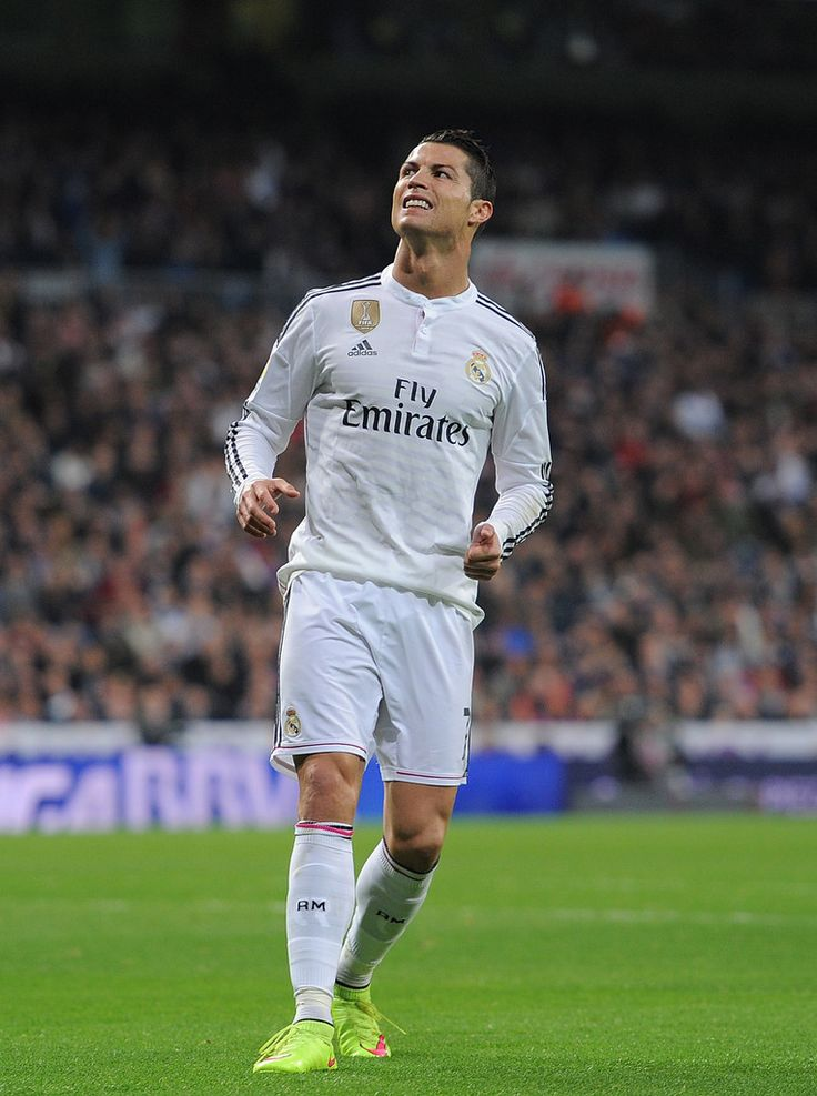 Cristiano Ronaldo of Real Madrid reacts during the La Liga match between Real Madrid and Villarreal at Estadio Santiago Bernabeu on March 1, 2015 in Madrid, Spain.