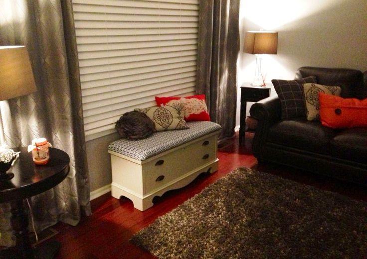Soft Blue Grey Walls Dark Grey Brown Leather Sofa