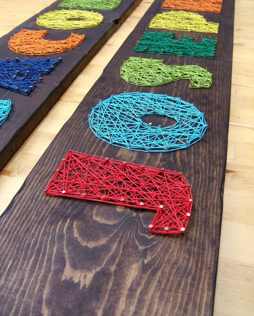 nail and string art name boards, or monogram letters